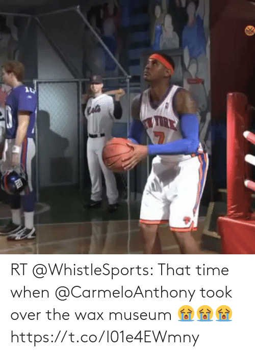 wax: RT @WhistleSports: That time when @CarmeloAnthony took over the wax museum 😭😭😭 https://t.co/l01e4EWmny