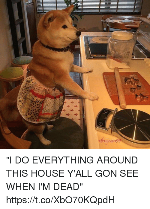 """House, Girl Memes, and Gon: @rujisan? """"I DO EVERYTHING AROUND THIS HOUSE Y'ALL GON SEE WHEN I'M DEAD"""" https://t.co/XbO70KQpdH"""
