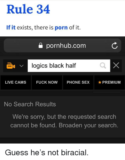 Rule if it exists there is porn