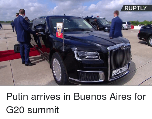 aires: RUPTLY  C66189 Putin arrives in Buenos Aires for G20 summit