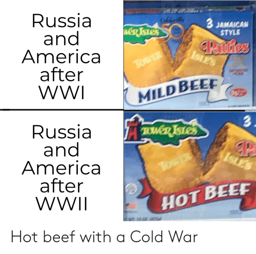 tower: Russia  and  America  after  WWI  CaldeB  3 JAMAICAN  STYLE  weR TSTES  Panstres  ISLES  TowER  MILD BEE  3.  Russia  and  America  after  WWII  TWD ISTES  ISLES  TosER  HOT BEEF Hot beef with a Cold War