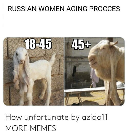 Dank, Memes, and Target: RUSSIAN WOMEN AGING PROCCES  18-45 45t How unfortunate by azido11 MORE MEMES