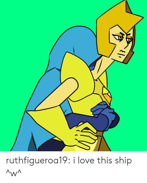 Love, Tumblr, and Blog: ruthfigueroa19:  i love this ship ^w^