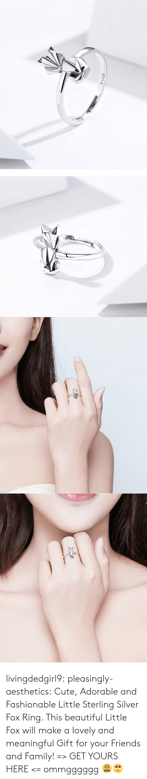 fashionable: s935 livingdedgirl9:  pleasingly-aesthetics: Cute, Adorable and Fashionable Little Sterling Silver Fox Ring. This beautiful Little Fox will make a lovely and meaningful Gift for your Friends and Family! => GET YOURS HERE <=   ommgggggg 😩🥺