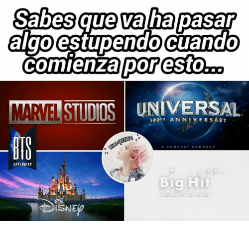 Music, Comcast, and Company: Sabesque va ha pasapr  algo  estupendocuandO  comienza poresto..  METTISTIDOS UNIVERSAL  BIS  ?TH ANNIVERSARY  A COMCAST COMPANY  70  Big Hit  Music &Arlist for Healin  DISNE