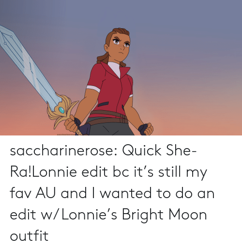 Tumblr, Blog, and Moon: saccharierose saccharinerose:  Quick She-Ra!Lonnie edit bc it's still my fav AU and I wanted to do an edit w/ Lonnie's Bright Moon outfit
