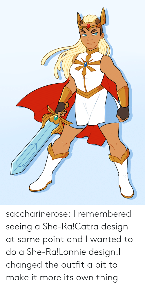 Tumblr, Blog, and Design: saccharinerose:  I remembered seeing a She-Ra!Catra design at some point and I wanted to do a She-Ra!Lonnie design.I changed the outfit a bit to make it more its own thing