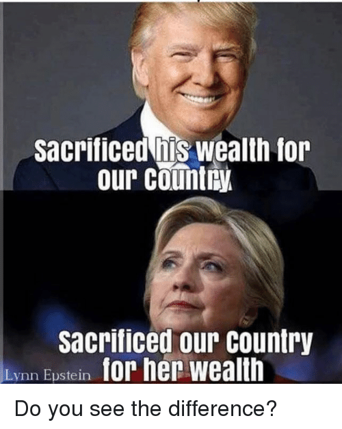 You, For, and Wealth: Sacrificed his wealth for  our country  sacrificed our country  Lynn Eustein Do you see the difference?