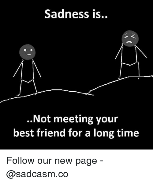 Best Friend, Memes, and Best: Sadness is..  ..Not meeting your  best friend for a long time Follow our new page - @sadcasm.co