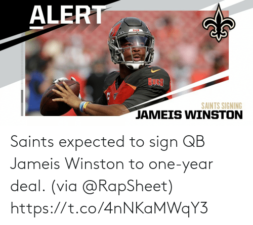 expected: Saints expected to sign QB Jameis Winston to one-year deal. (via @RapSheet) https://t.co/4nNKaMWqY3