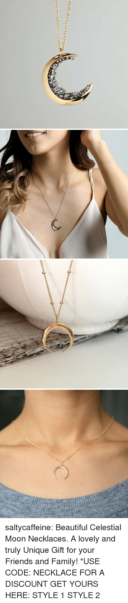 Beautiful, Family, and Friends: saltycaffeine:  Beautiful Celestial Moon Necklaces. A lovely and truly Unique Gift for your Friends and Family! *USE CODE: NECKLACE FOR A DISCOUNT GET YOURS HERE:  STYLE 1  STYLE 2