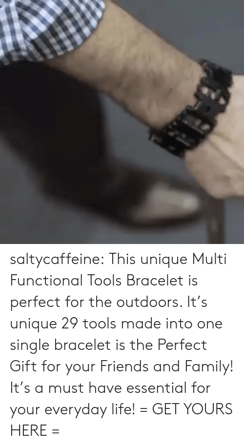 Family, Friends, and Life: saltycaffeine: This unique Multi Functional Tools Bracelet is perfect for the outdoors. It's unique 29 tools made into one single bracelet is the Perfect Gift for your Friends and Family! It's a must have essential for your everyday life! = GET YOURS HERE =