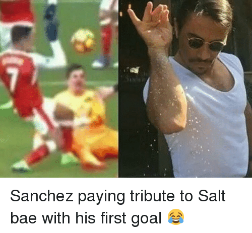 Salt Bae: Sanchez paying tribute to Salt bae with his first goal 😂