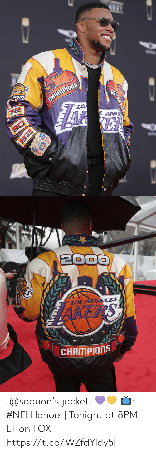 tonight: .@saquon's jacket. 💜💛  📺: #NFLHonors | Tonight at 8PM ET on FOX https://t.co/WZfdYIdy5l