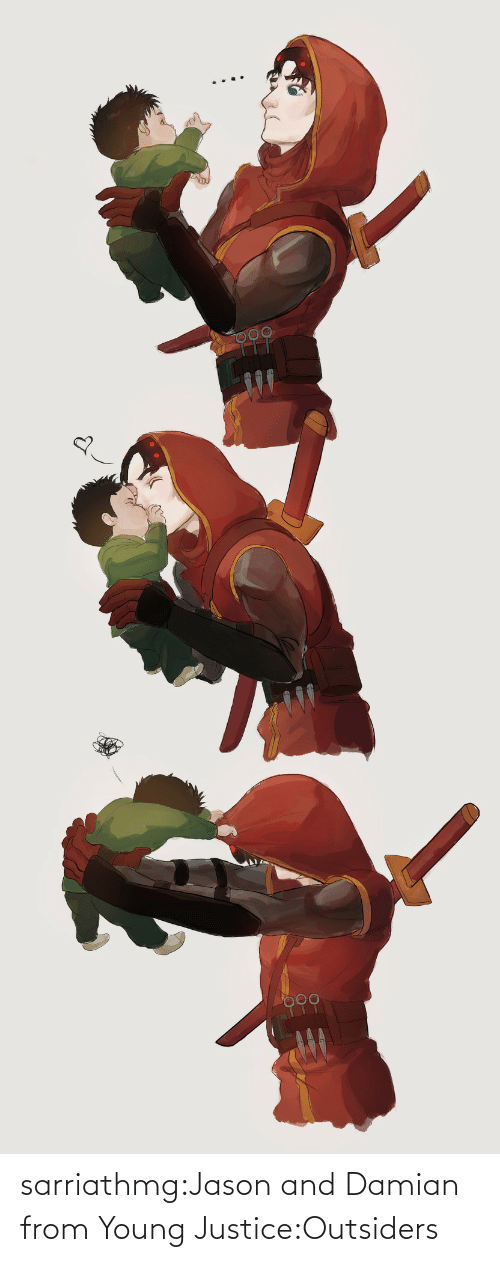 jason: sarriathmg:Jason and Damian from Young Justice:Outsiders