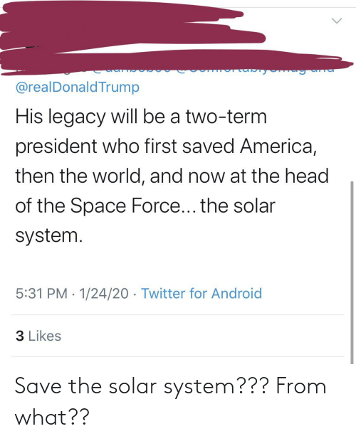Solar System: Save the solar system??? From what??