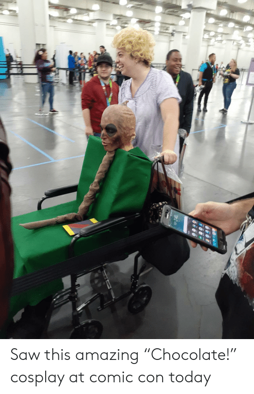 "Saw, Chocolate, and Comic Con: Saw this amazing ""Chocolate!"" cosplay at comic con today"