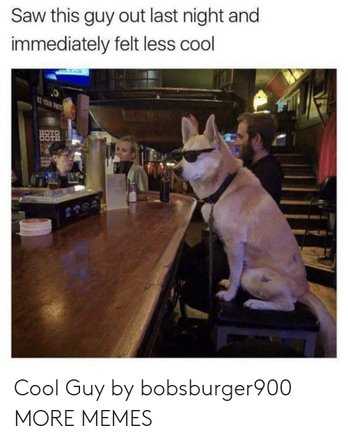 Dank, Memes, and Saw: Saw this guy out last night and  immediately felt less cool Cool Guy by bobsburger900 MORE MEMES