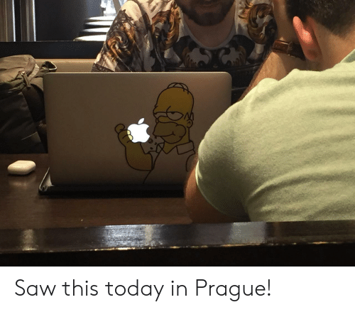 Prague: Saw this today in Prague!
