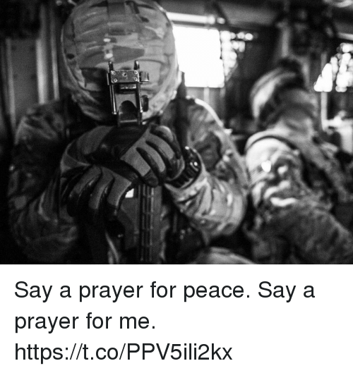 Memes, Prayer, and Peace: Say a prayer for peace. Say a prayer for me. https://t.co/PPV5ili2kx