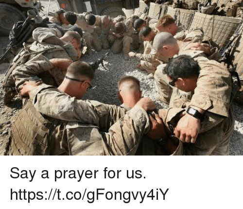 Memes, Prayer, and 🤖: Say a prayer for us. https://t.co/gFongvy4iY