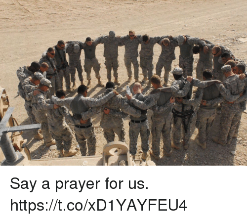Memes, Prayer, and 🤖: Say a prayer for us. https://t.co/xD1YAYFEU4
