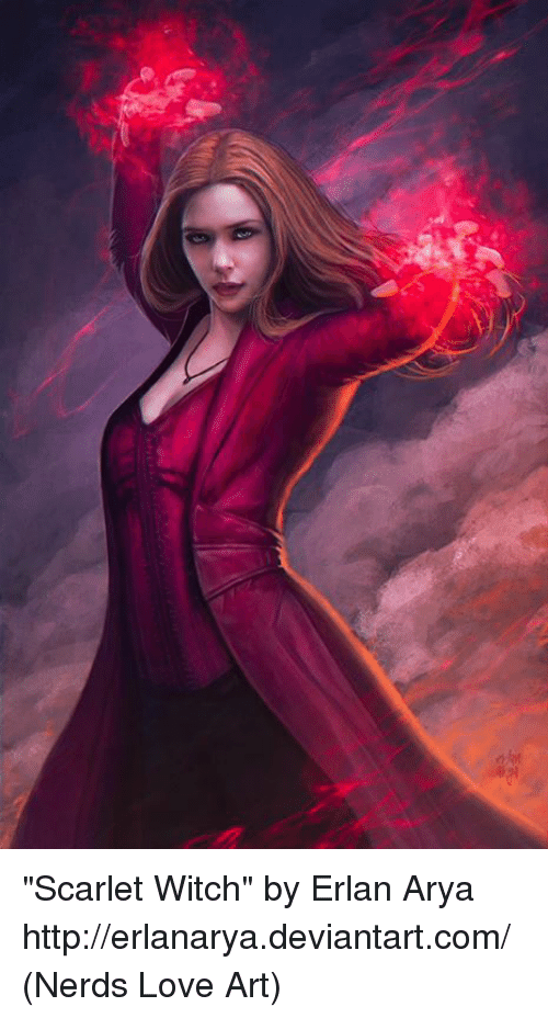 "Memes, Nerd, and Deviantart: ""Scarlet Witch"" by Erlan Arya http://erlanarya.deviantart.com/  (Nerds Love Art)"