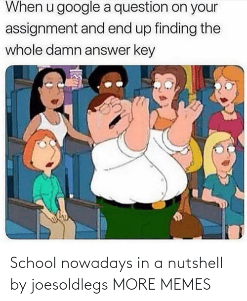 nowadays: School nowadays in a nutshell by joesoldlegs MORE MEMES