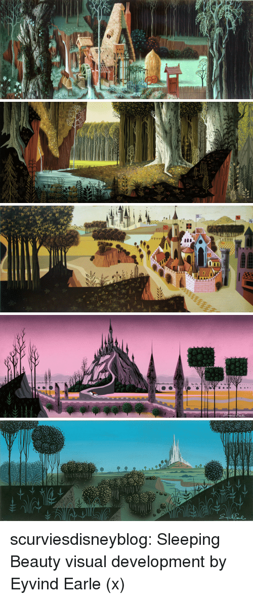 Sleeping Beauty: scurviesdisneyblog: Sleeping Beauty visual development by Eyvind Earle (x)