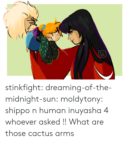cactus: Se stinkfight:  dreaming-of-the-midnight-sun:  moldytony:  shippo n human inuyasha 4 whoever asked !!  What are those cactus arms