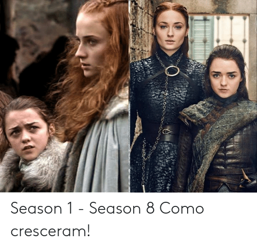 Memes, 🤖, and  Season 1: Season 1 - Season 8  Como cresceram!