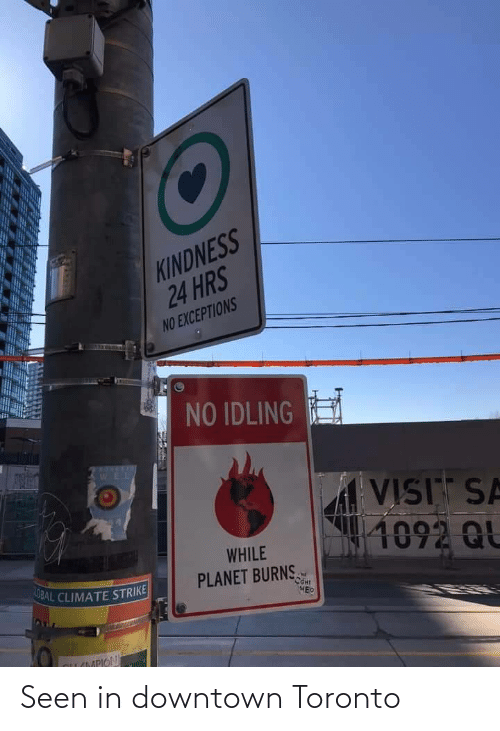downtown: Seen in downtown Toronto