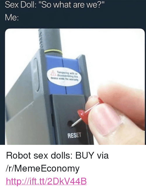 """Sex, Http, and Robot: Sex Doll: """"So what are we?""""  asse  RESET <p>Robot sex dolls: BUY via /r/MemeEconomy <a href=""""http://ift.tt/2DkV44B"""">http://ift.tt/2DkV44B</a></p>"""