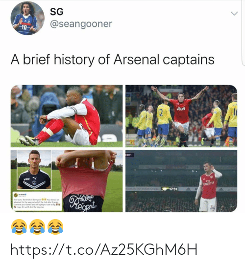 disrespect: SG  @seangooner  10  A brief history of Arsenal captains  AON  12  CRY  Fly  Emirare  othe Ind Ocean 17 51  This furts The level of disrespect You should be  ashamed for the way you've left the dub after 9 years  Got what you wanted and still trying to huve a dig  Hope it's worth it in the long run 😂😂😂 https://t.co/Az25KGhM6H