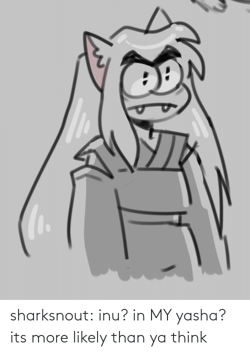 more: sharksnout:    inu? in MY yasha? its more likely than ya think
