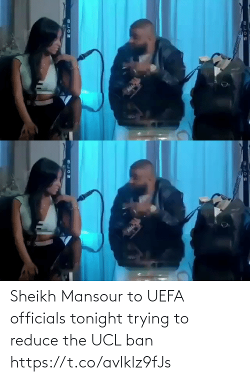 tonight: Sheikh Mansour to UEFA officials tonight trying to reduce the UCL ban  https://t.co/avlklz9fJs