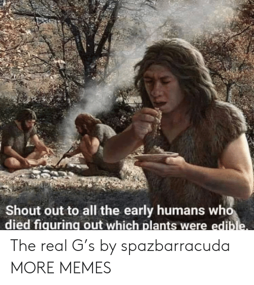 Dank, Memes, and Target: Shout out to all the early humans who  died fiquring out which plants were edible The real G's by spazbarracuda MORE MEMES