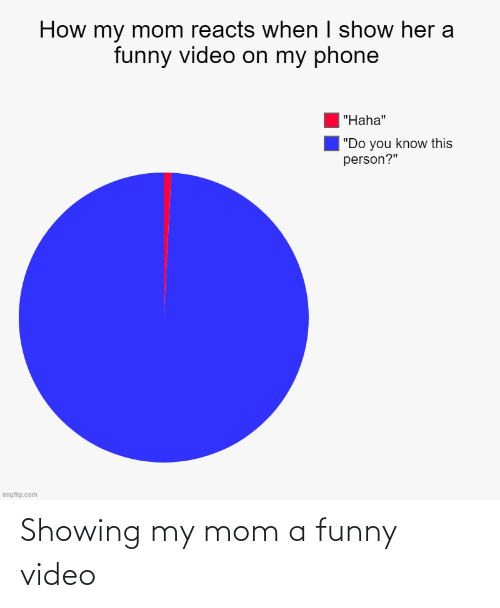 my mom: Showing my mom a funny video