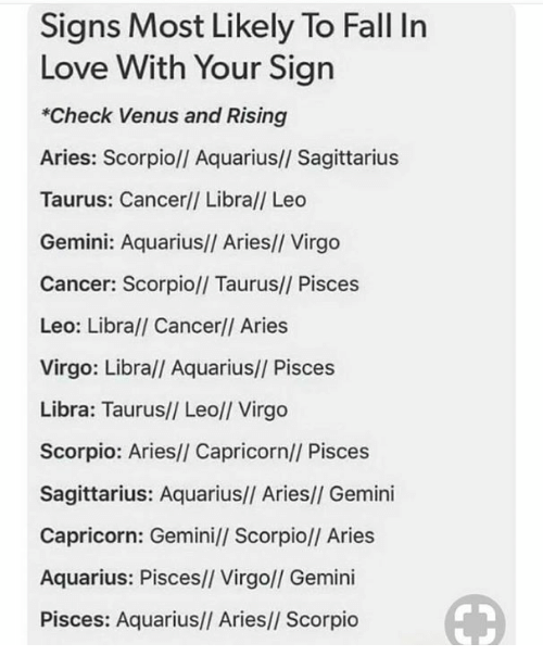 Signs Most Likely to Fall in Love With Your Sign *Check