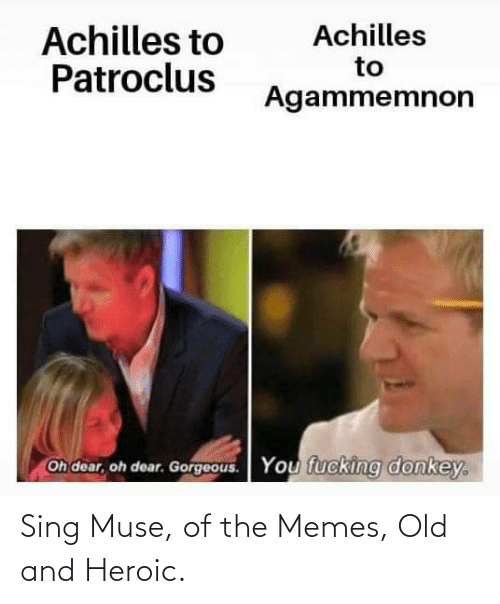 Muse: Sing Muse, of the Memes, Old and Heroic.