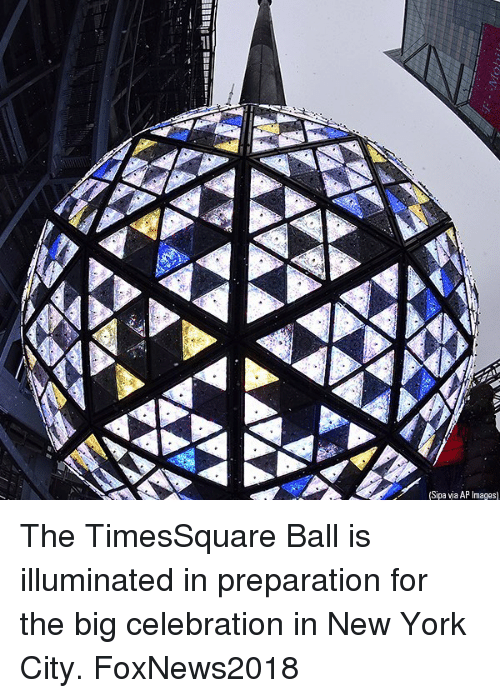 in-new-york-city: (Sipa via AP Images) The TimesSquare Ball is illuminated in preparation for the big celebration in New York City. FoxNews2018