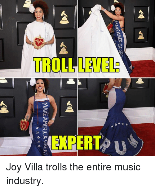 Memes, 🤖, and Villa: SMAKEAMERICA GRS  MAKE AMERICA GREAT Joy Villa trolls the entire music industry.