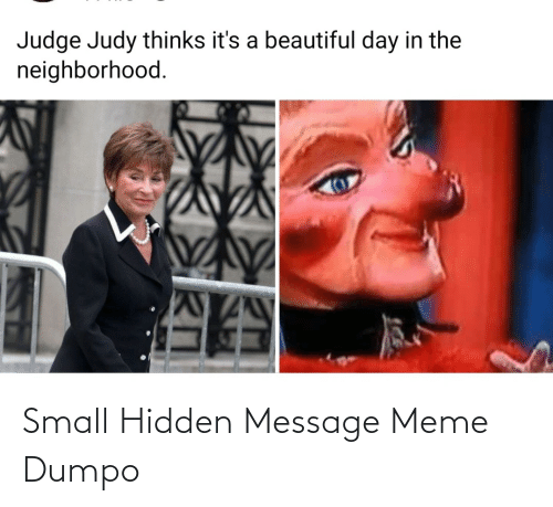 Hidden Message: Small Hidden Message Meme Dumpo