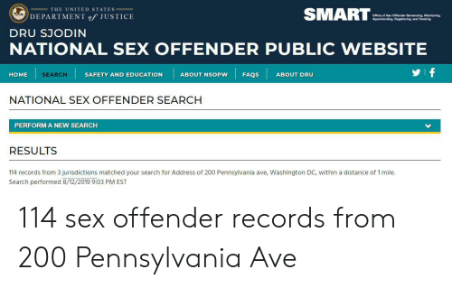 SMART THE UNITED STATES DEPARTMENT of JUSTICE Office of Sex