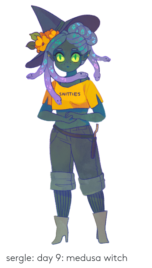 Tumblr, Blog, and Witch: SNITTIES sergle:  day 9: medusa witch