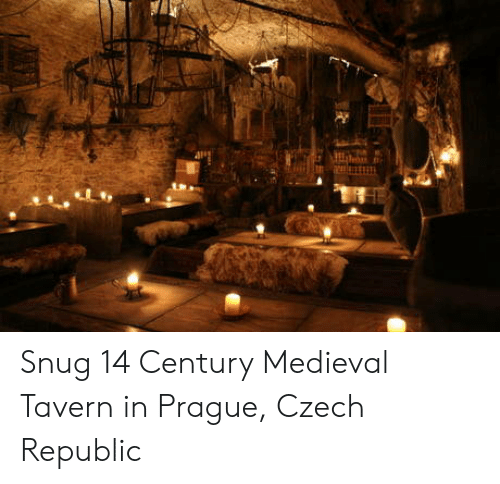 Prague: Snug 14 Century Medieval Tavern in Prague, Czech Republic