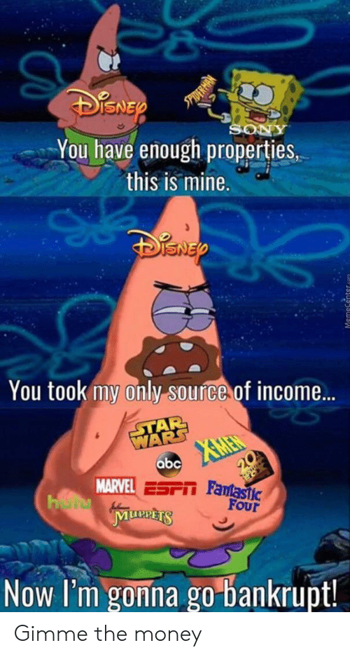 Properties: SO  You have enough properties,  this is mine.  You took my only source of income...  STAR  WARS  XMEN  abc  20  MARVEL ESPIT Famastic  HerMunnts  FOur  Now I'm gonna go bankrupt! Gimme the money