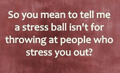 You Mean To Tell Me: So you mean to tell me  a stress ball isn't for  throwing at people who  stress you out?