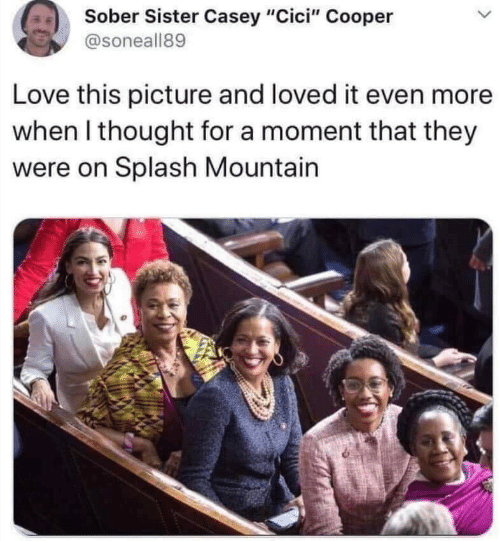 "They Were: Sober Sister Casey ""Cici"" Cooper  @soneall89  Love this picture and loved it even more  when I thought for a moment that they  were on Splash Mountain"