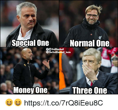 Memes, Money, and 🤖: Soecial One  Normal One  O TrollFootball  TheTrollFootball_Insta  Money One  Three One 😆😆 https://t.co/7rQ8iEeu8C